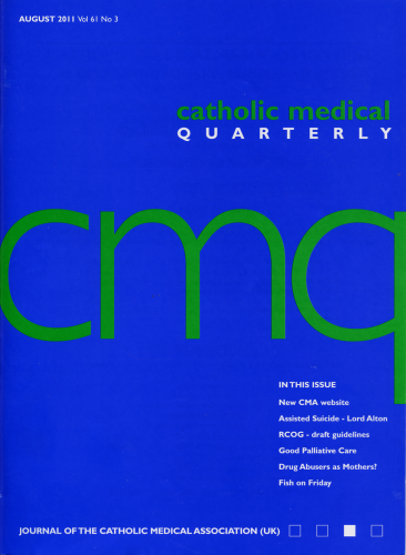 Cover of August 2011 Edition of CMQ